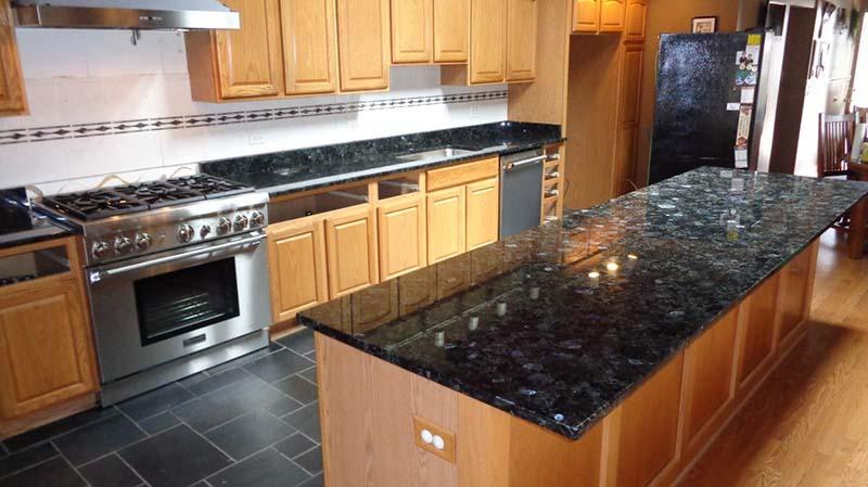 Volgue Blue Granite Kitchen Countertop