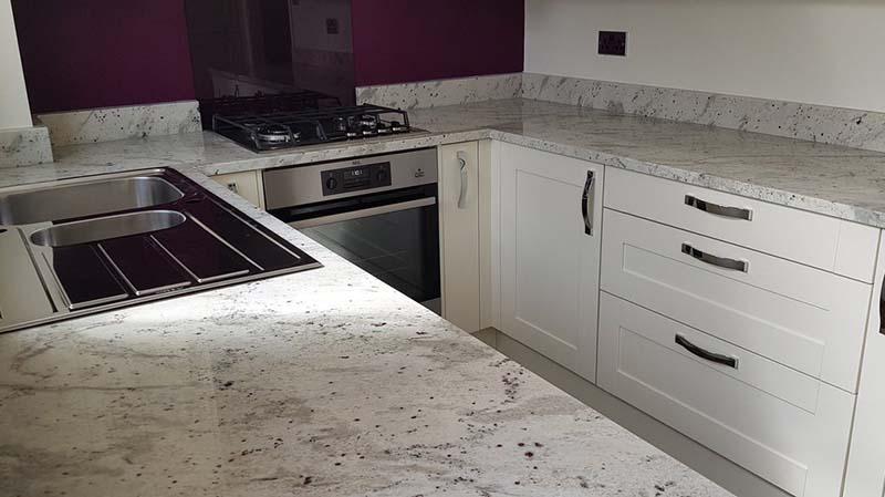 Andromeda White Kitchen Countertops