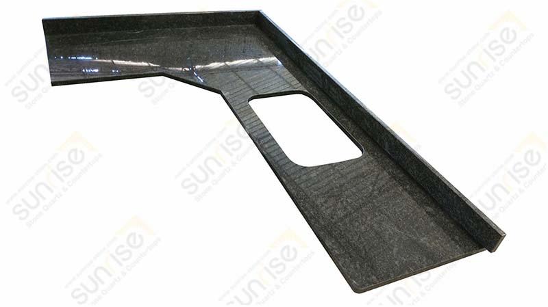 Steel Gray Corner Countertop