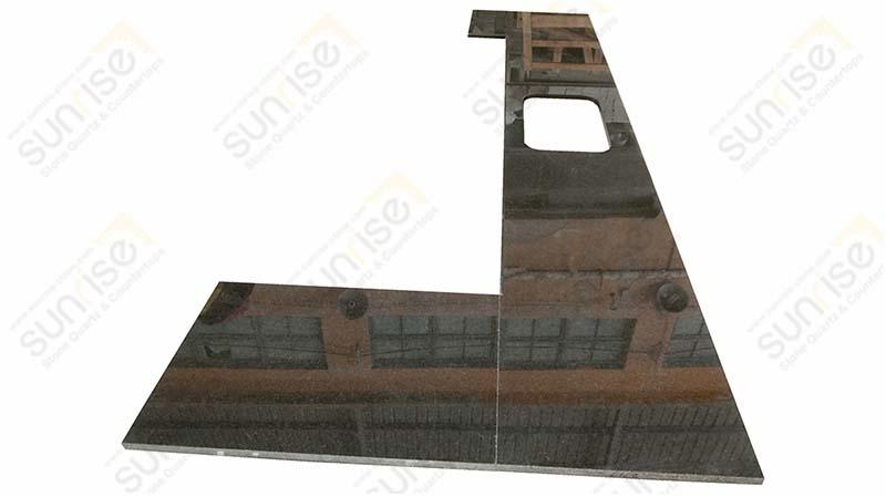 Black Pearl Prefab Granite Counters