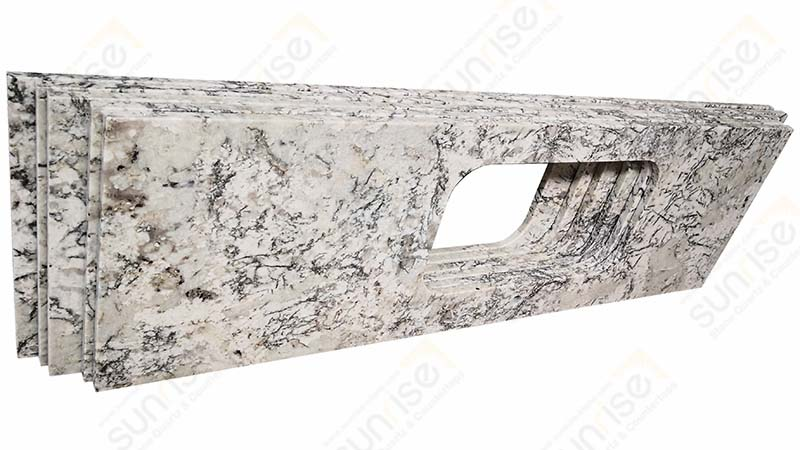 Riprap White Granite Worktop