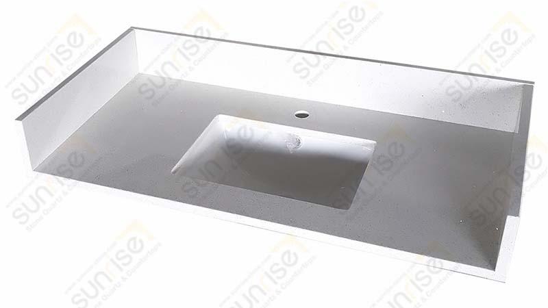Sparkle White Quartz Vanity Top