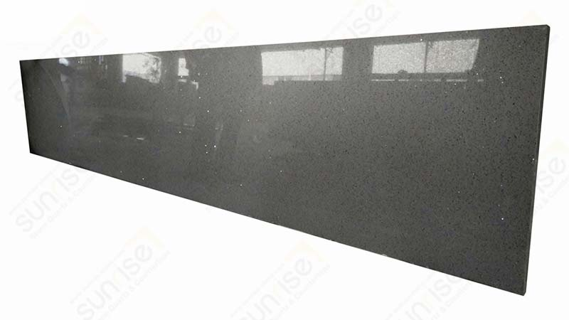 Sparkle Grey Precut Quartz Counter