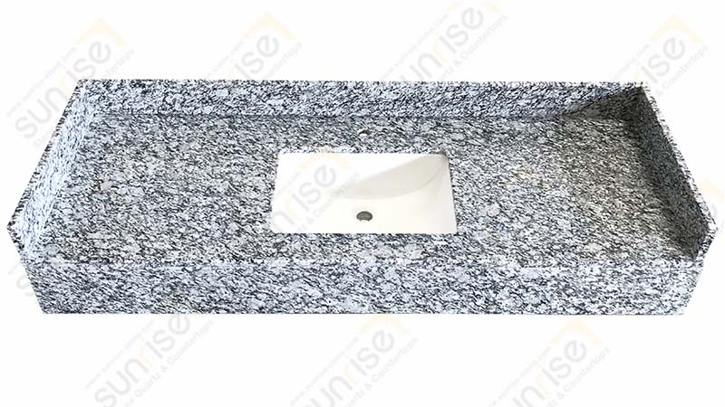 Spray White Bathroom Countertops