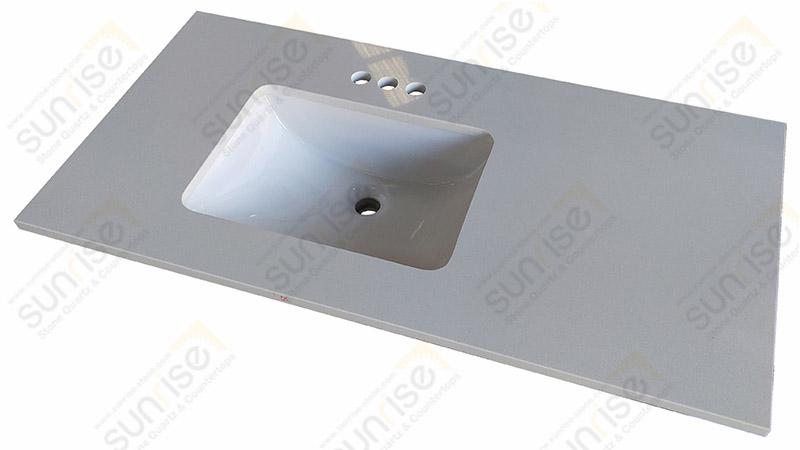 Arctic White Quartz Bathroom Top