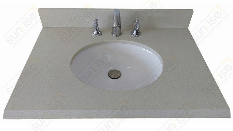 Arctic White Bathroom Countertop