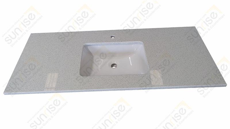 Sparkle White Quartz Vanity Counter