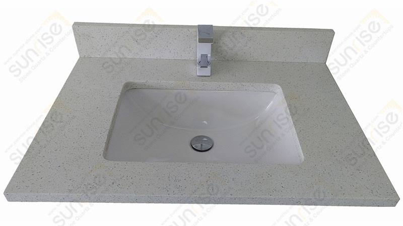 Sparkle White Quartz Vanity Bathroom