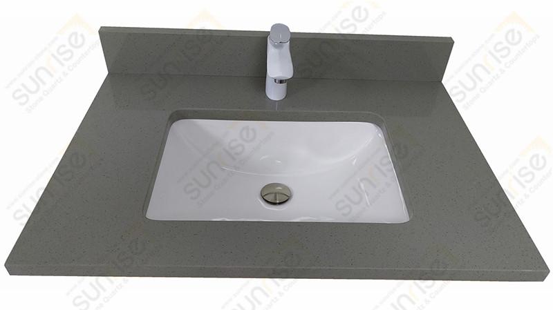 Guris grey Quartz Vanity Top