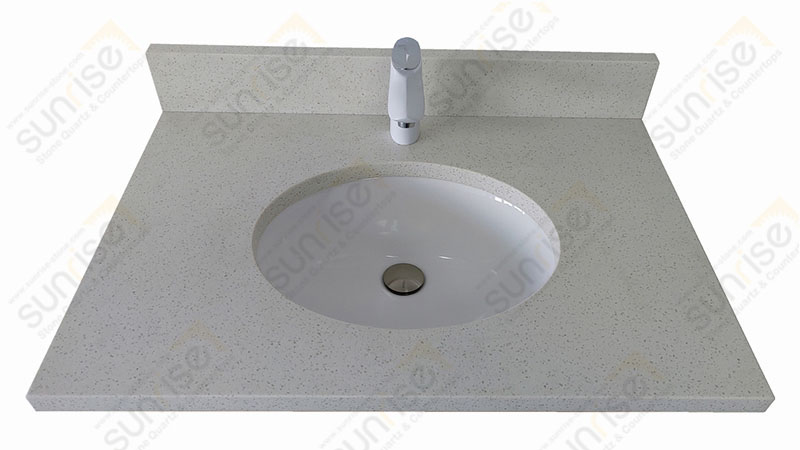 Maple White Quartz Vanity Top