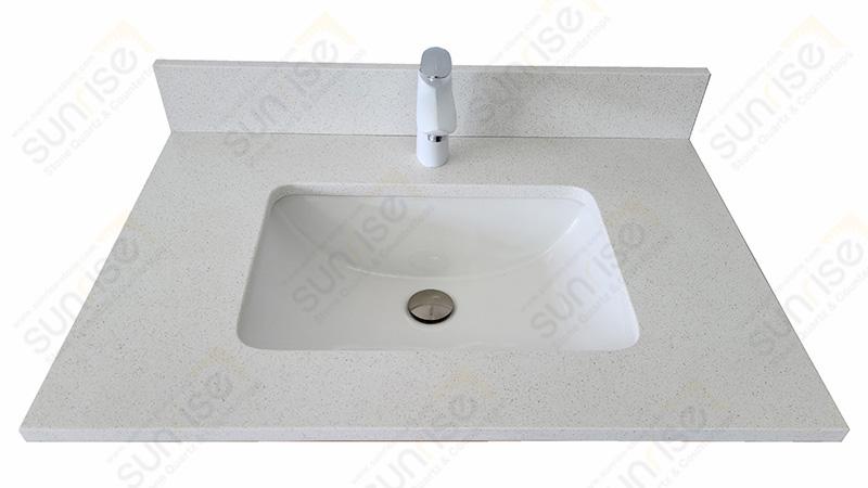 Blanco Maple Quartz Vanity Top