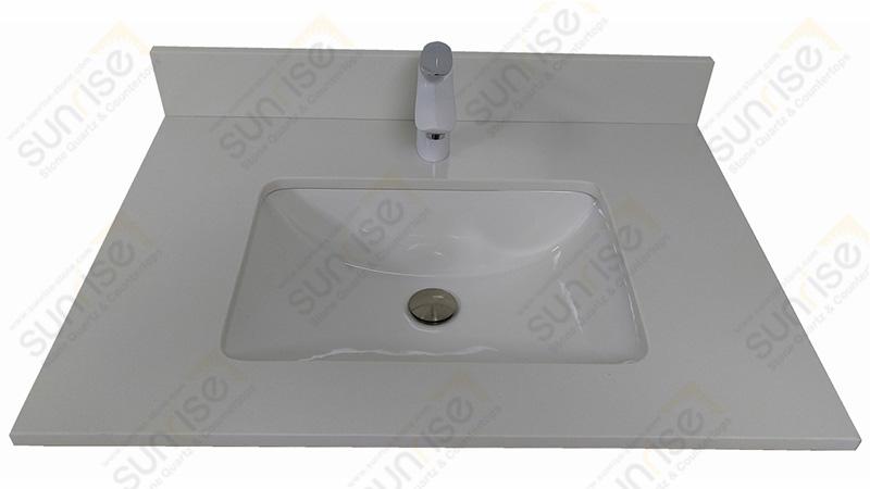 Pure White Quartz Vanity Top