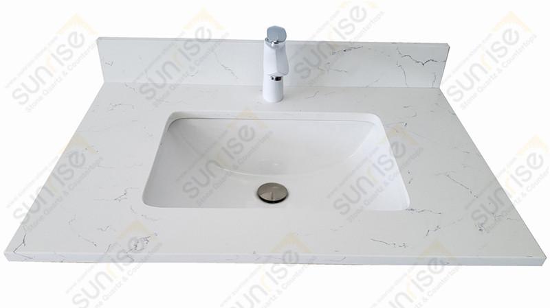 Carrara White Quartz Vanity Top