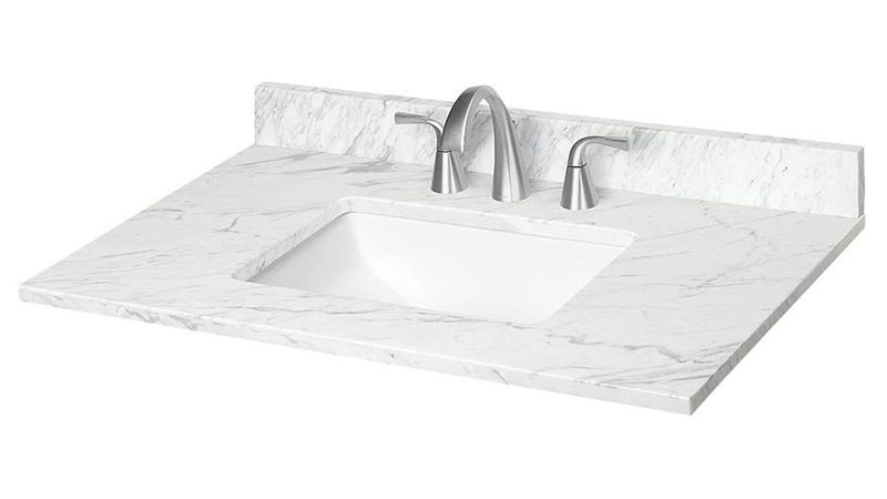 Jazz White Marble Vanity Top