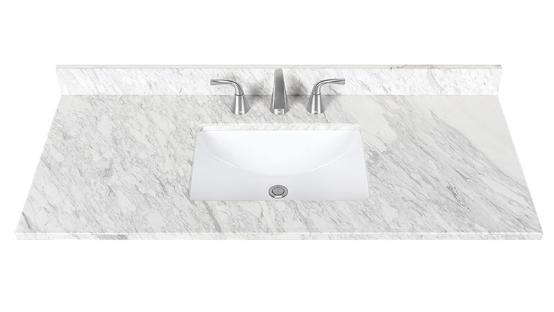 "Jazz White 48"" Marble Vanity Top"