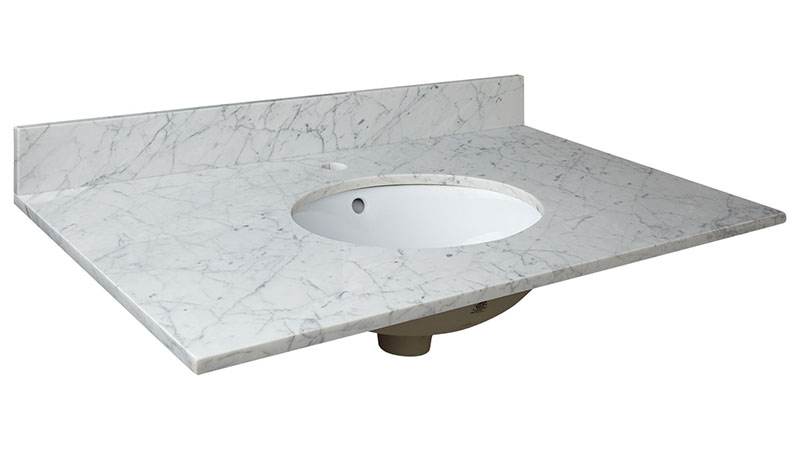 Carrara White Marble Bathroom Top