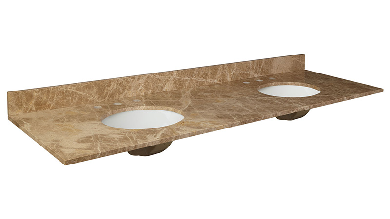 "Emperador Light 72"" Vanity Top"