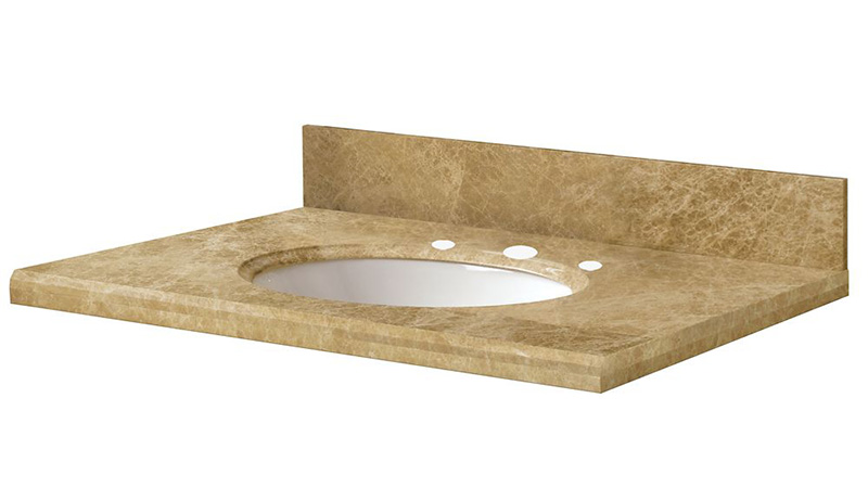 "Emperador Light 25"" Vanity Top"