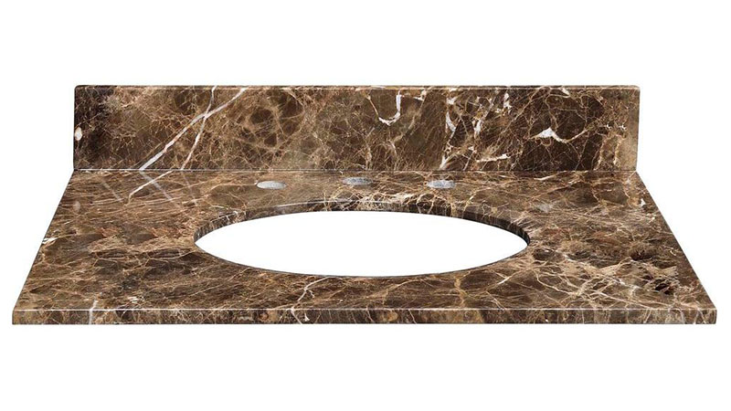 "Emperador Dark 25"" Vanity Top"