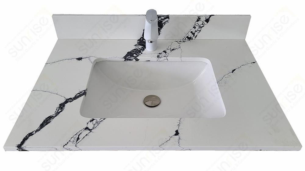 Calacatta Lazio Quartz Vanity Top