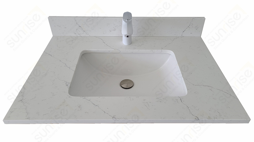 Avenue White Quartz Vanity Top