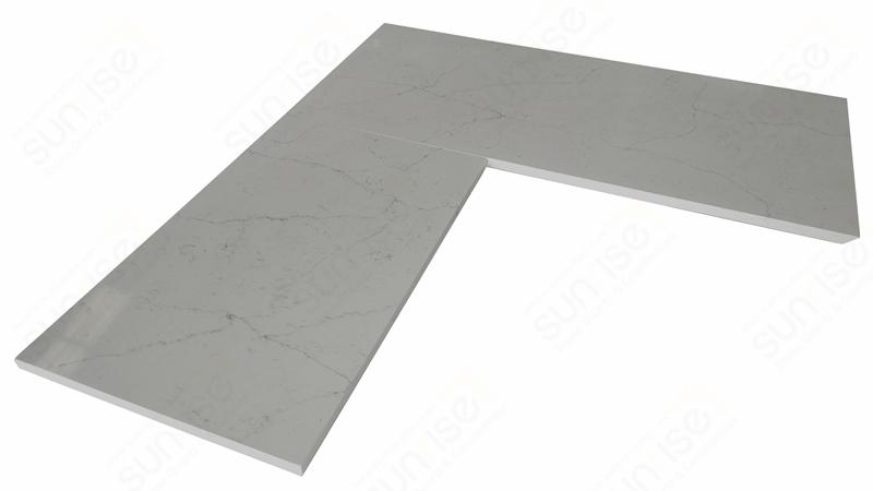Avenue White L Shape Countertop