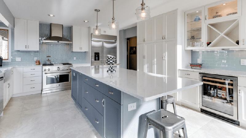 Bianco Carrara ECO Glass Kitchen