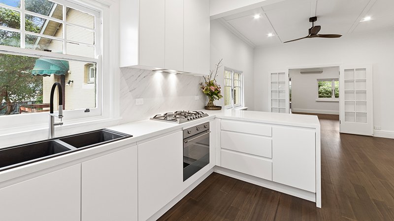 Super White ECO Glass Kitchen