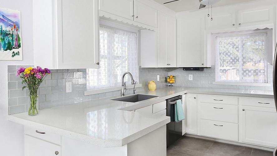 Maple White ECO Glass Kitchen