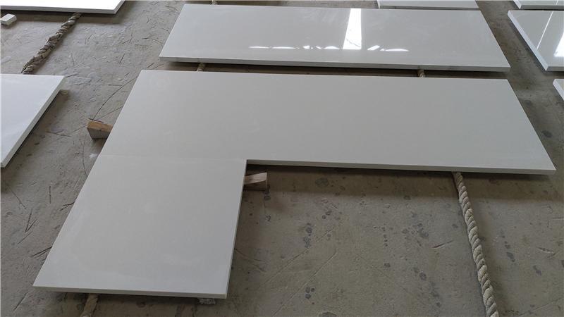 Aroan White ECO Glass Countertop