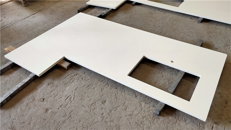 Absolute White ECO Glass Countertop