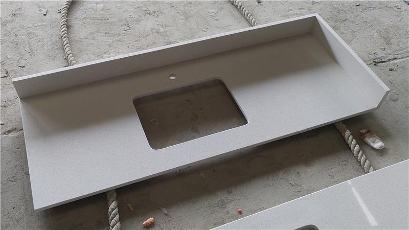 Maple White ECO Glass Vanity Top