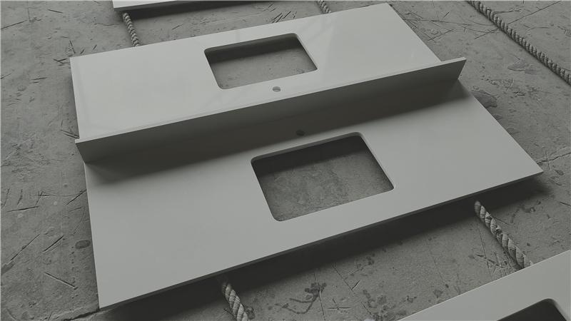 White Sand ECO Glass Vanity Top