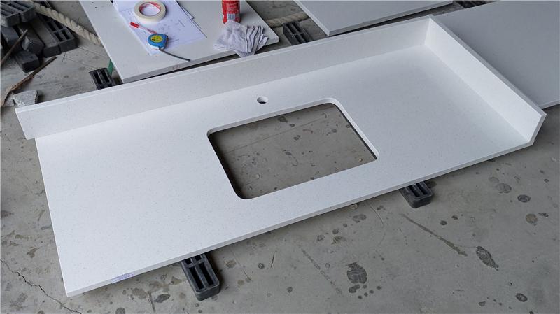 Blanco White ECO Glass Vanity Top