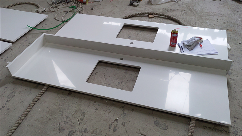 Absolute White ECO Glass Vanity Top