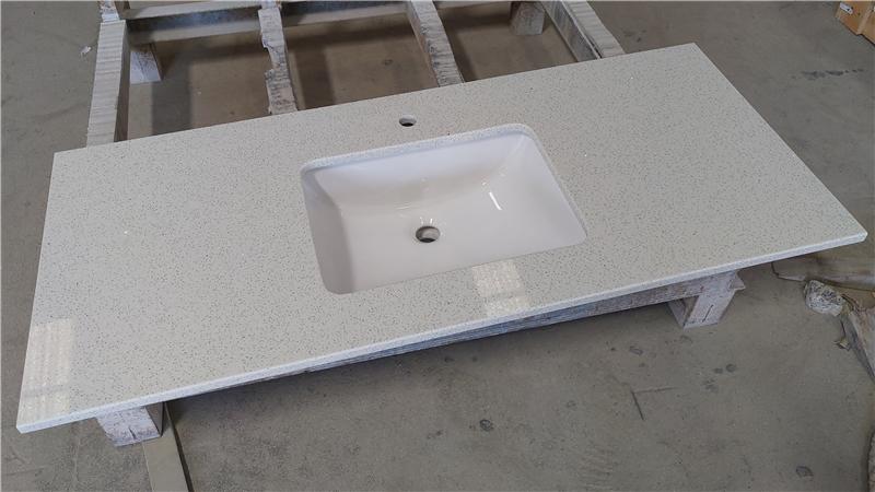 Crystal White ECO Glass Vanity Top